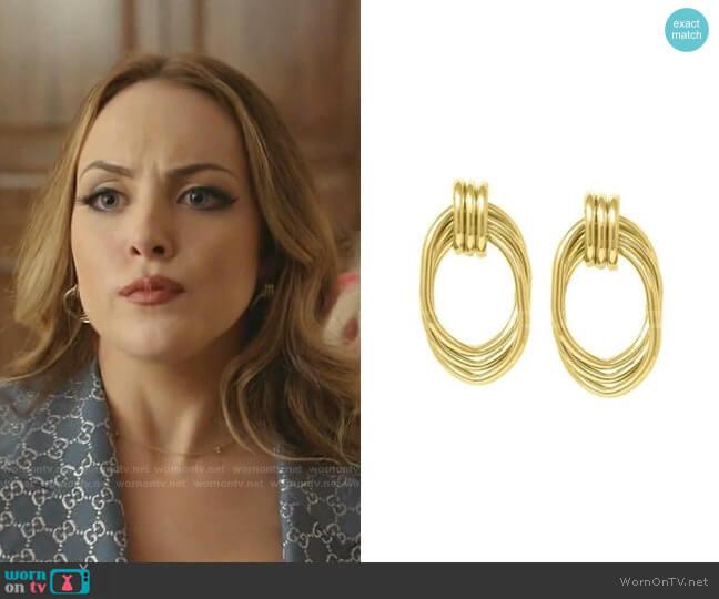 Florence Drop Earrings by Bonheur worn by Fallon Carrington (Elizabeth Gillies) on Dynasty