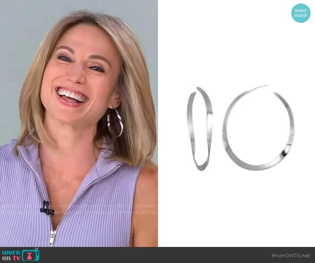 Renee Hoop Earrings by Bonheur Jewelry worn by Amy Robach  on Good Morning America