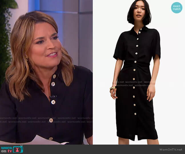 Button Front Shirtdress by Kate Spade worn by Savannah Guthrie  on Today