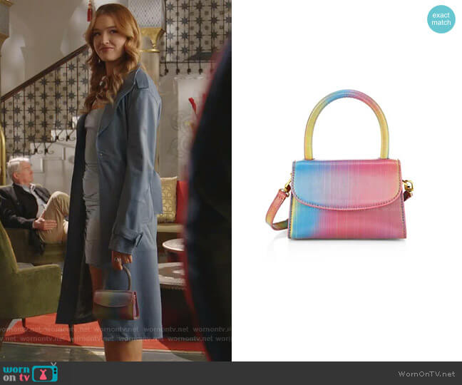 Mini Rainbow Leather Top Handle Bag by By Far worn by Kirby Anders (Maddison Brown) on Dynasty