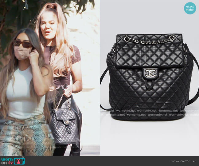 Quilted Leather Backpack by Chanel worn by Khloe Kardashian  on Keeping Up with the Kardashians