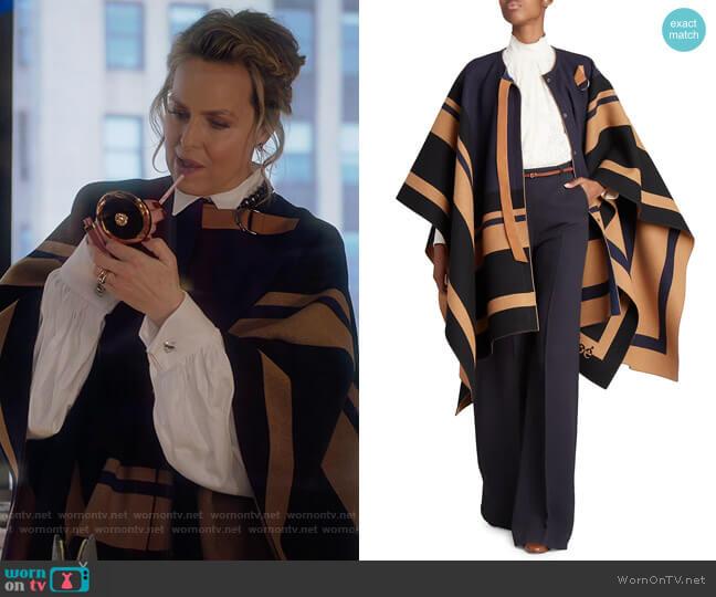 Virgin Wool Blanket Cape by Chloe worn by Jacqueline (Melora Hardin) on The Bold Type