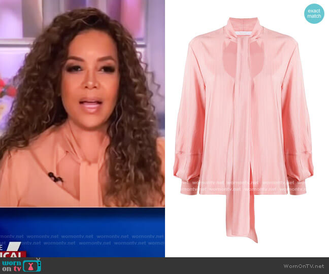 Scoop-neck Blouse by Chloe worn by Sunny Hostin  on The View