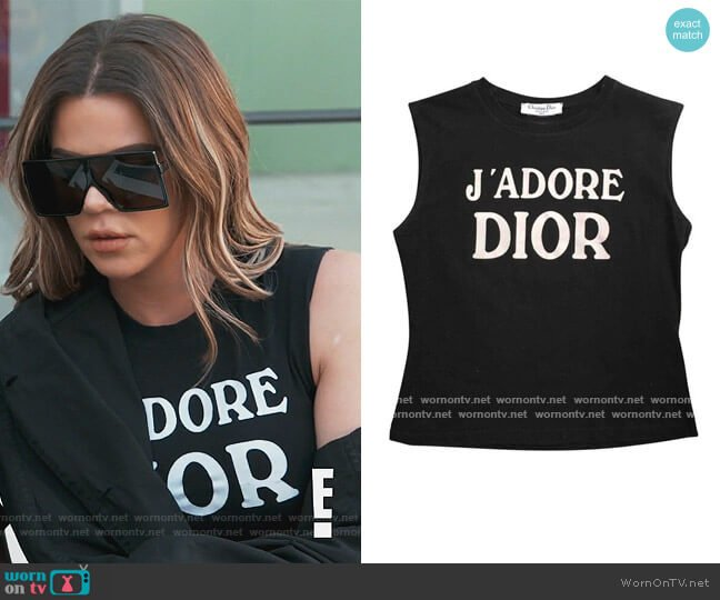 Jadore Tank by Dior worn by Khloe Kardashian  on Keeping Up with the Kardashians
