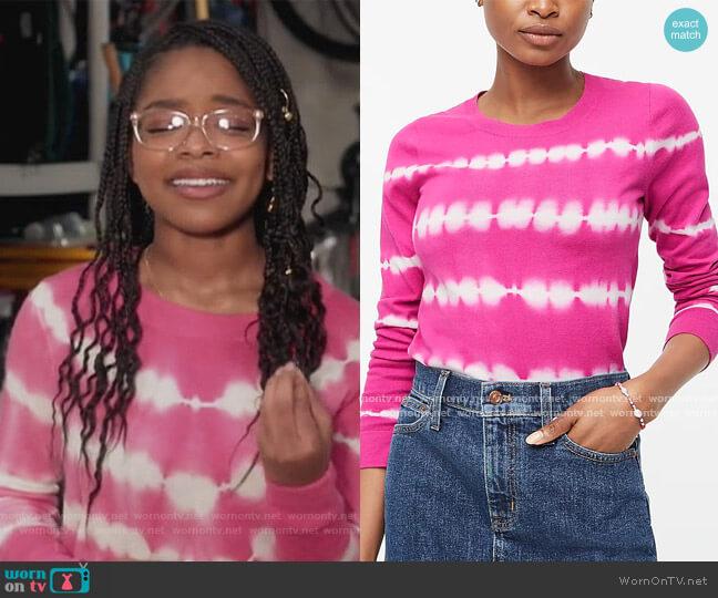 Cotton Teddie Sweater by J. Crew worn by Diane Johnson (Marsai Martin) on Blackish