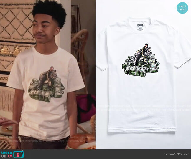Puppy Love White T-Shirt by DGK worn by Jack Johnson (Miles Brown) on Blackish