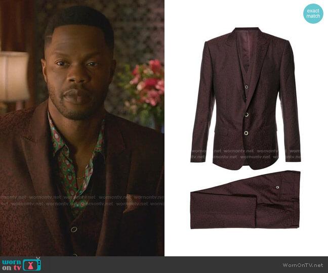 3-Piece Formal Suit by Dolce & Gabbana worn by Jeff Colby (Sam Adegoke) on Dynasty
