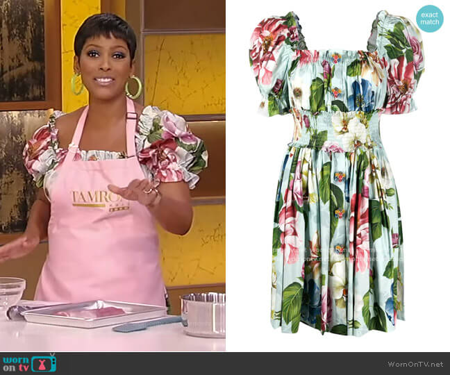 Floral Print Short Dress by Dolce & Gabbana worn by Tamron Hall  on Tamron Hall Show