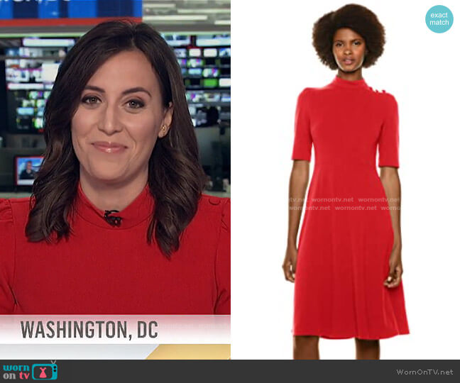 Stretch Crepe Midi Dress by Donna Morgan worn by Hallie Jackson on Today
