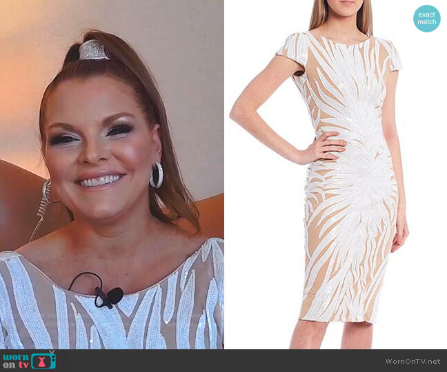 Marcella dress by Dress the Population worn by Brandi Redmond  on The Real Housewives of Dallas