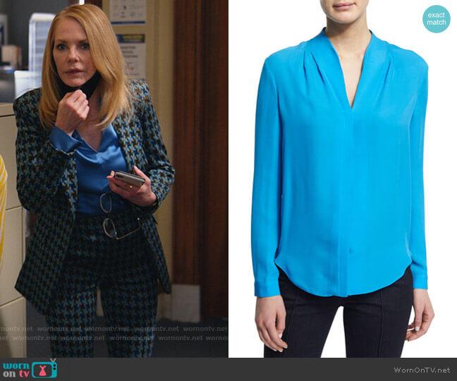 Judith Silk Blouse by Elie Tahari worn by Lisa Benner (Marg Helgenberger) on All Rise
