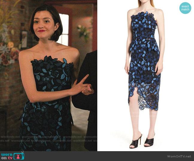 Times Dress by Elliatt  worn by Rosanna Williams (Katie Findlay) on Zoeys Extraordinary Playlist