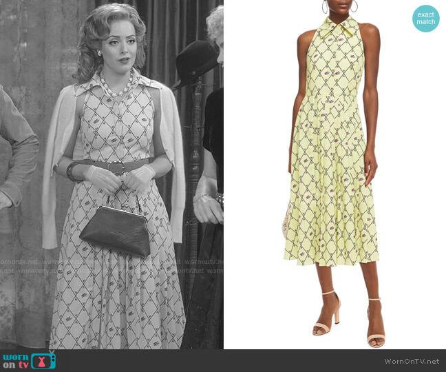 Alvia Midi Dress by Emilia Wickstead worn by Fallon Carrington (Elizabeth Gillies) on Dynasty