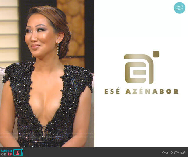 Custom designed by Ese Azenabor worn by Tiffany Moon  on The Real Housewives of Dallas