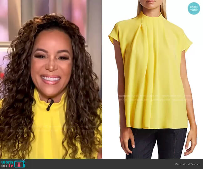 Esme Crepe Top by Tibi worn by Sunny Hostin on GMA