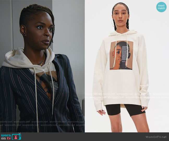 Henry Jones Art Graphic Hoodie by Forever 21 worn by Samantha Marie Ware on All Rise