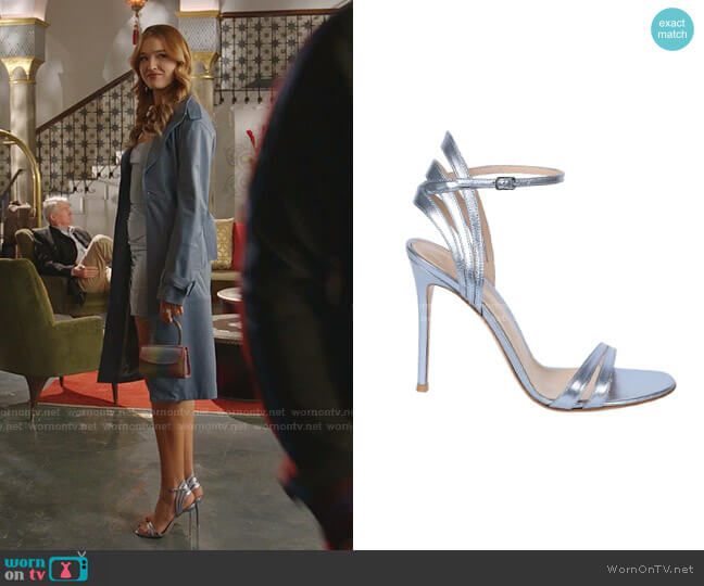 Freesia Sandals by Gianvito Rossi worn by Kirby Anders (Maddison Brown) on Dynasty