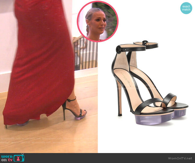 Clear Platform Ankle Strap Sandal by Gianvito Rossi worn by Dorit Kemsley  on The Real Housewives of Beverly Hills