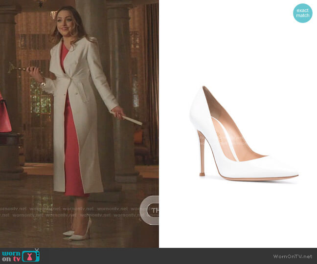 Patent-Leather Pumps by Gianvito Rossi worn by Fallon Carrington (Elizabeth Gillies) on Dynasty