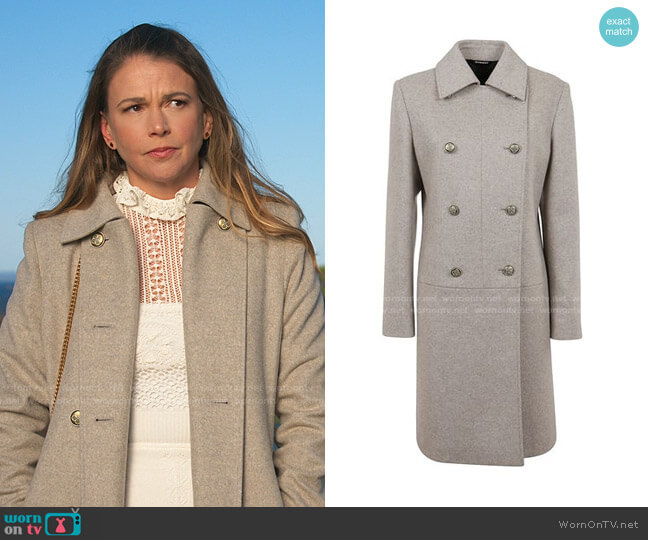 Mélange Wool Coat by Givenchy worn by Liza Miller (Sutton Foster) on Younger