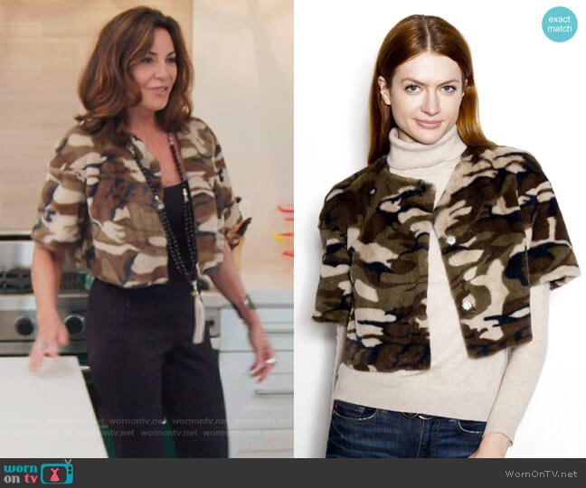 Cropped Collarless Faux Jacket by Glamour Puss worn by Luann de Lesseps  on The Real Housewives of New York City