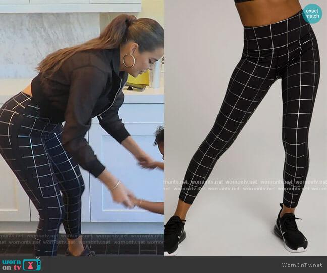 Foil Tux Leggings by Good American worn by Khloe Kardashian  on Keeping Up with the Kardashians