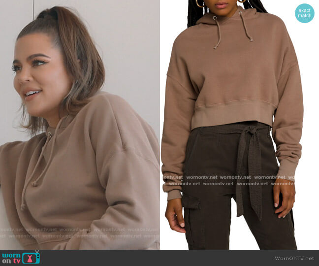 Cool Crop Hoodie by Good American worn by Khloe Kardashian  on Keeping Up with the Kardashians