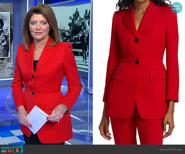 worn by Norah O'Donnell  on CBS Evening News