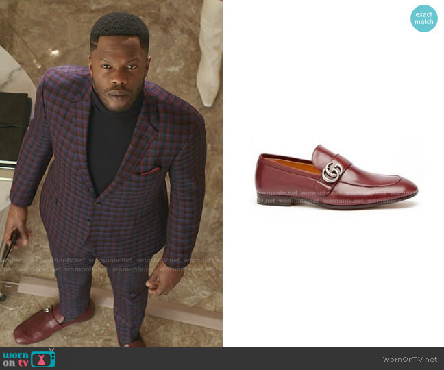 Donnie Double G Loafer by Gucci worn by Jeff Colby (Sam Adegoke) on Dynasty