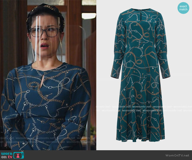 Angela Dress by Hobbs worn by Sherri Kansky (Ruthie Ann Miles) on All Rise