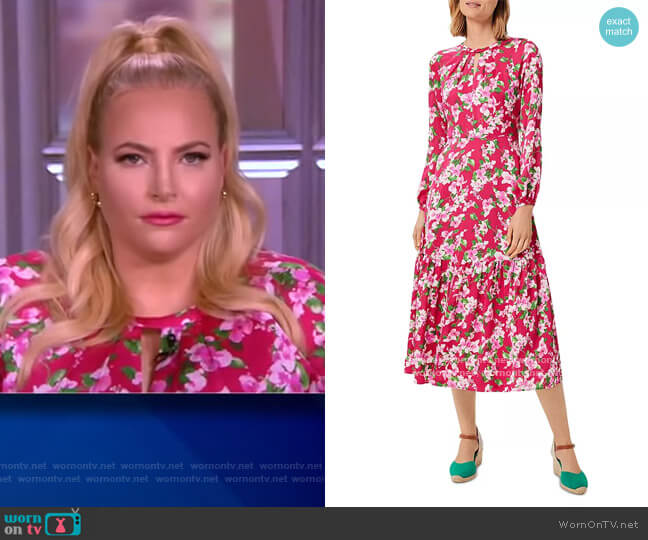 Marilyn Floral Print Dress by Hobbs London worn by Meghan McCain  on The View