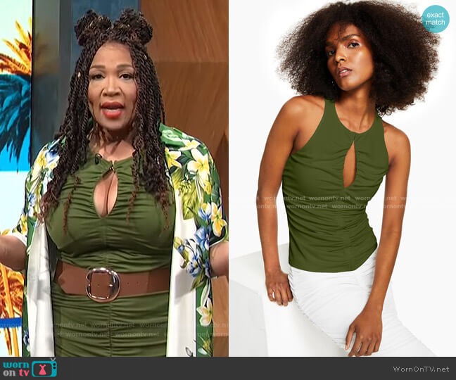 Ruched Keyhole Top by INC International Concepts worn by Kym Whitley  on E! News