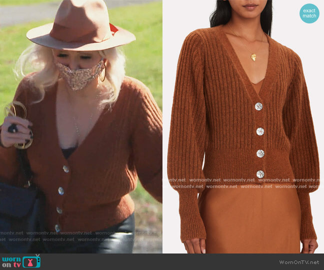 Ella Jewel Button Cardigan Intermix worn by Margaret Josephs  on The Real Housewives of New Jersey