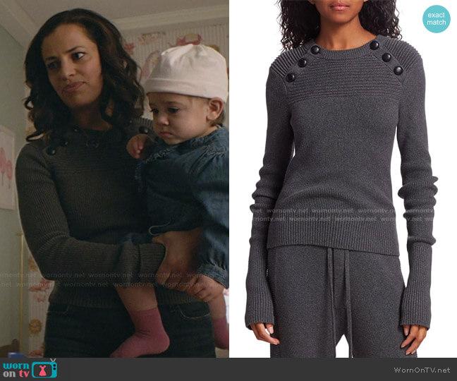 Koyle Sweater by Isabel Marant Etoile worn by Grace Stone (Athena Karkanis) on Manifest