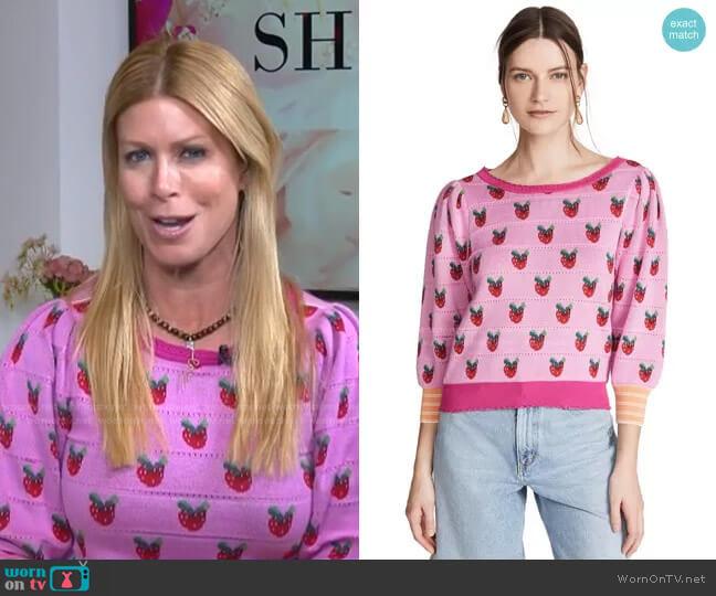 Isha Sweater by LoveShackFancy worn by Jill Martin  on Today