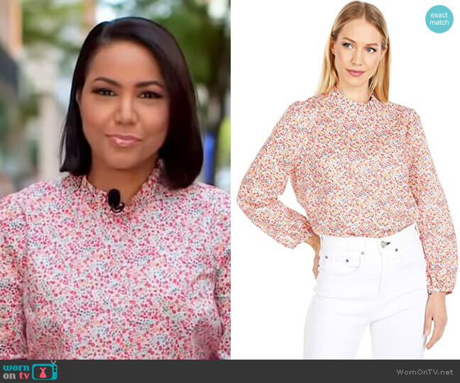 Long Sleeve Top in Liberty Phoebe Floral by J. Crew worn by Stephanie Ramos  on Good Morning America