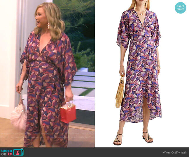 Printed Midi Dress by Jaline worn by Kathy Hilton  on The Real Housewives of Beverly Hills
