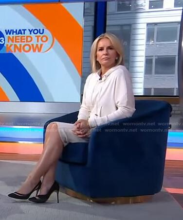 Jennifer's white ribbed hooded dress on Good Morning America