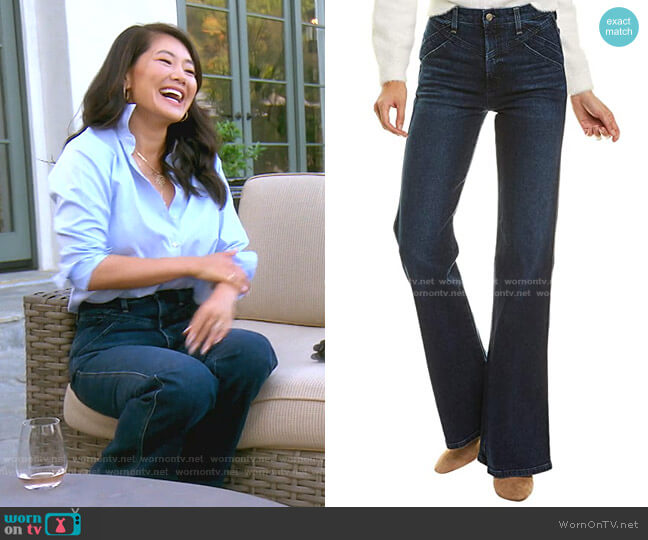 The Molly Longhorn High-Rise Flare Jeans by Joe's worn by Crystal Kung Minkoff  on The Real Housewives of Beverly Hills