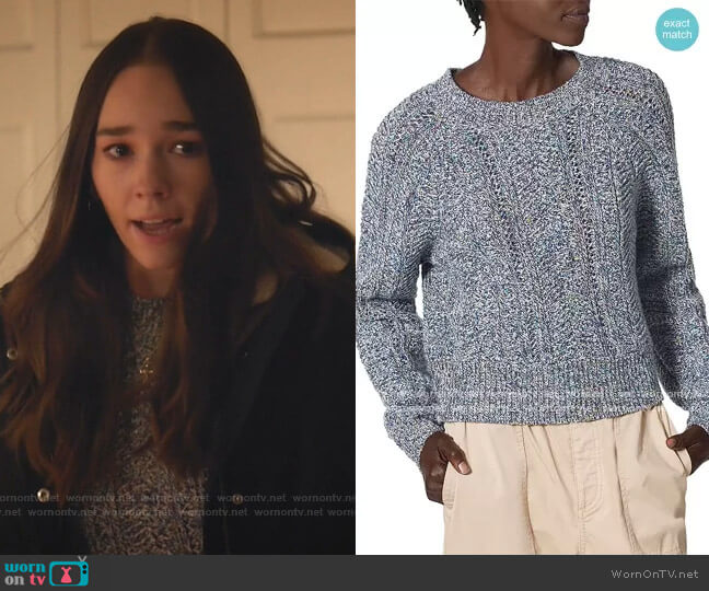 Kamryn Marled Crewneck Sweater by Joie worn by Angelina Meyer (Holly Taylor ) on Manifest