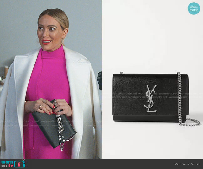 Kate Shoulder Bag by Saint Laurent worn by Kelsey Peters (Hilary Duff) on Younger