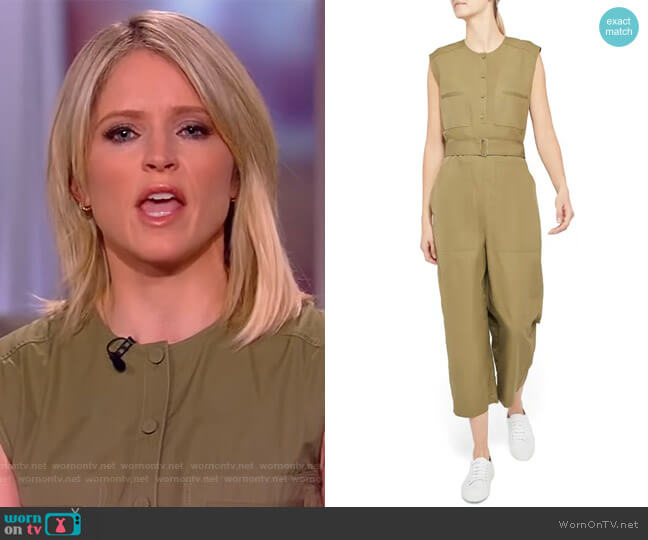 Belted Cargo Jumpsuit by Theory worn by Sara Haines  on The View