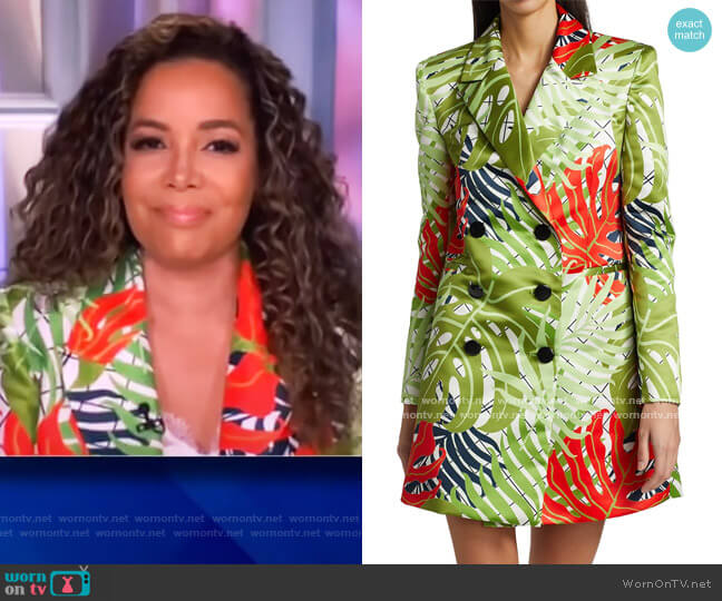Brandi Garden Print Double-Breasted Coat Dress by Kimberly Goldson worn by Sunny Hostin  on The View