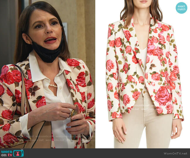 Kenzie Blazer by L'Agence worn by Maggie Palmer (Suzanne Cryer) on All Rise