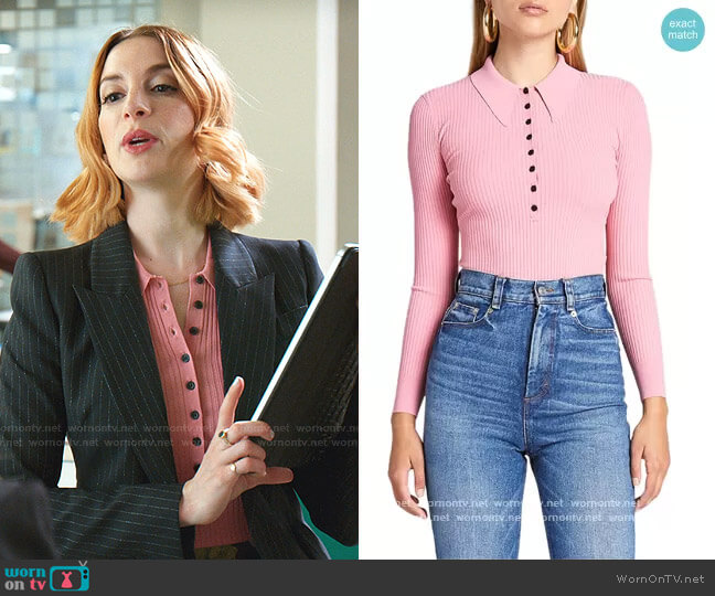 Lance Ribbed Top by A.L.C. worn by Lauren (Molly Bernard) on Younger