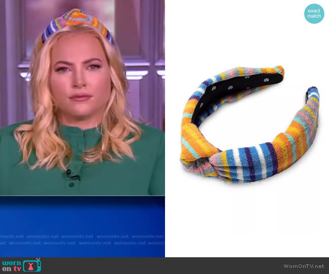 Striped Terry Knot Headband by Lele Sadoughi worn by Meghan McCain  on The View