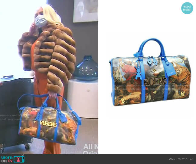 Keepall Bandouliere Bag by Louis Vuitton x Jeff Koons worn by Erika Jayne  on The Real Housewives of Beverly Hills