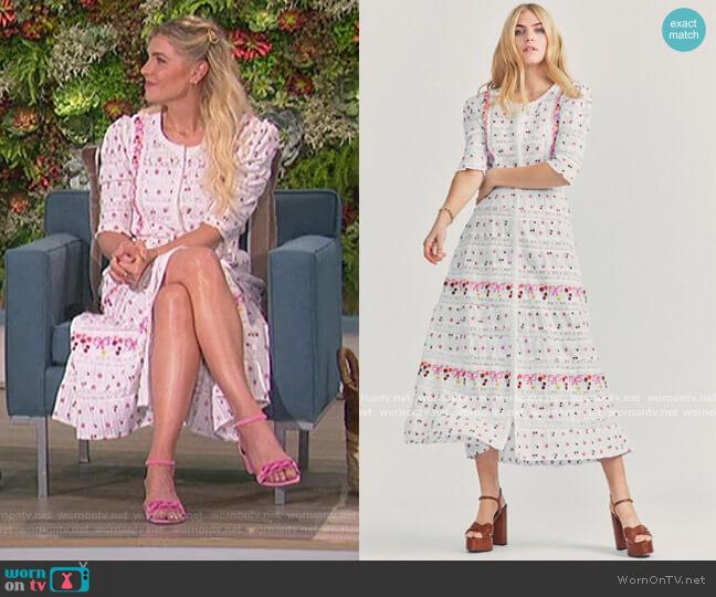 Flora Dress by Love Shack Fancy worn by Amanda Kloots  on The Talk