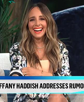 Lilliana's floral blazer and shorts on E! News Daily Pop