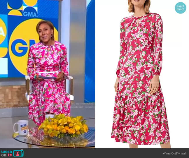 Marilyn Floral Print Dress by Hobbs London worn by Robin Roberts  on Good Morning America